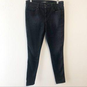 Joe's Jeans black wash mid rise skinny jean sz 30